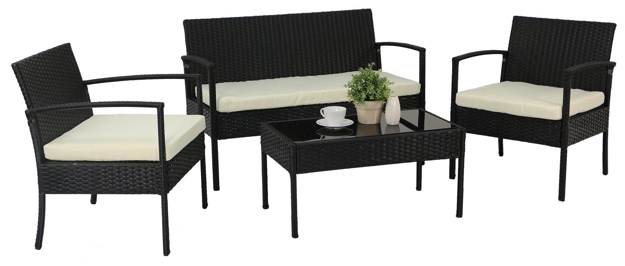 Lazio Sofa Set Black Furniture Home D Cor Fortytwo