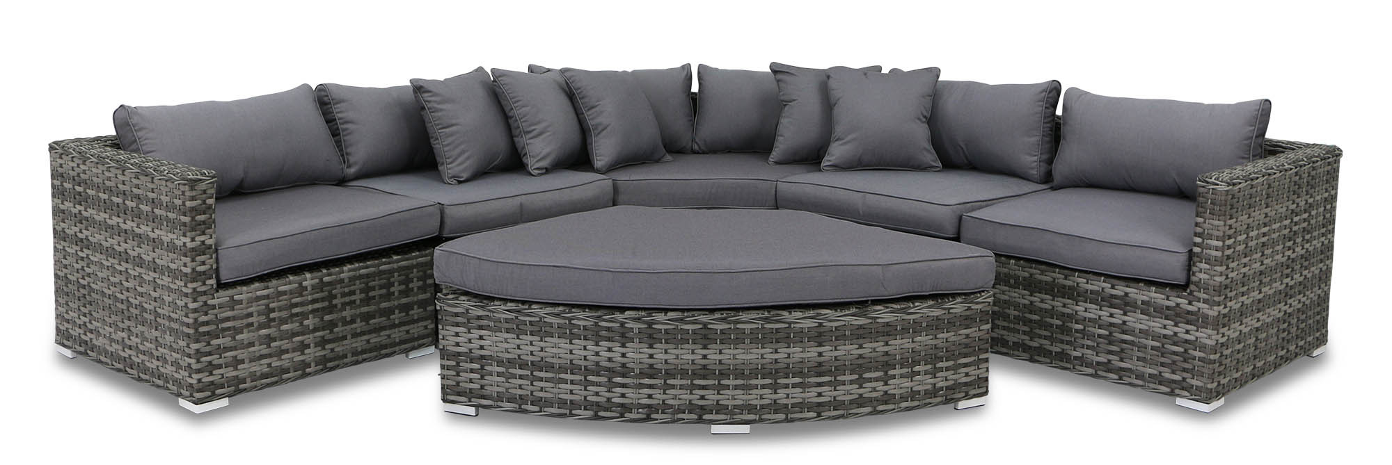 As Is Clearance Cassablanca Synthetic Rattan Outdoor Corner Sofa