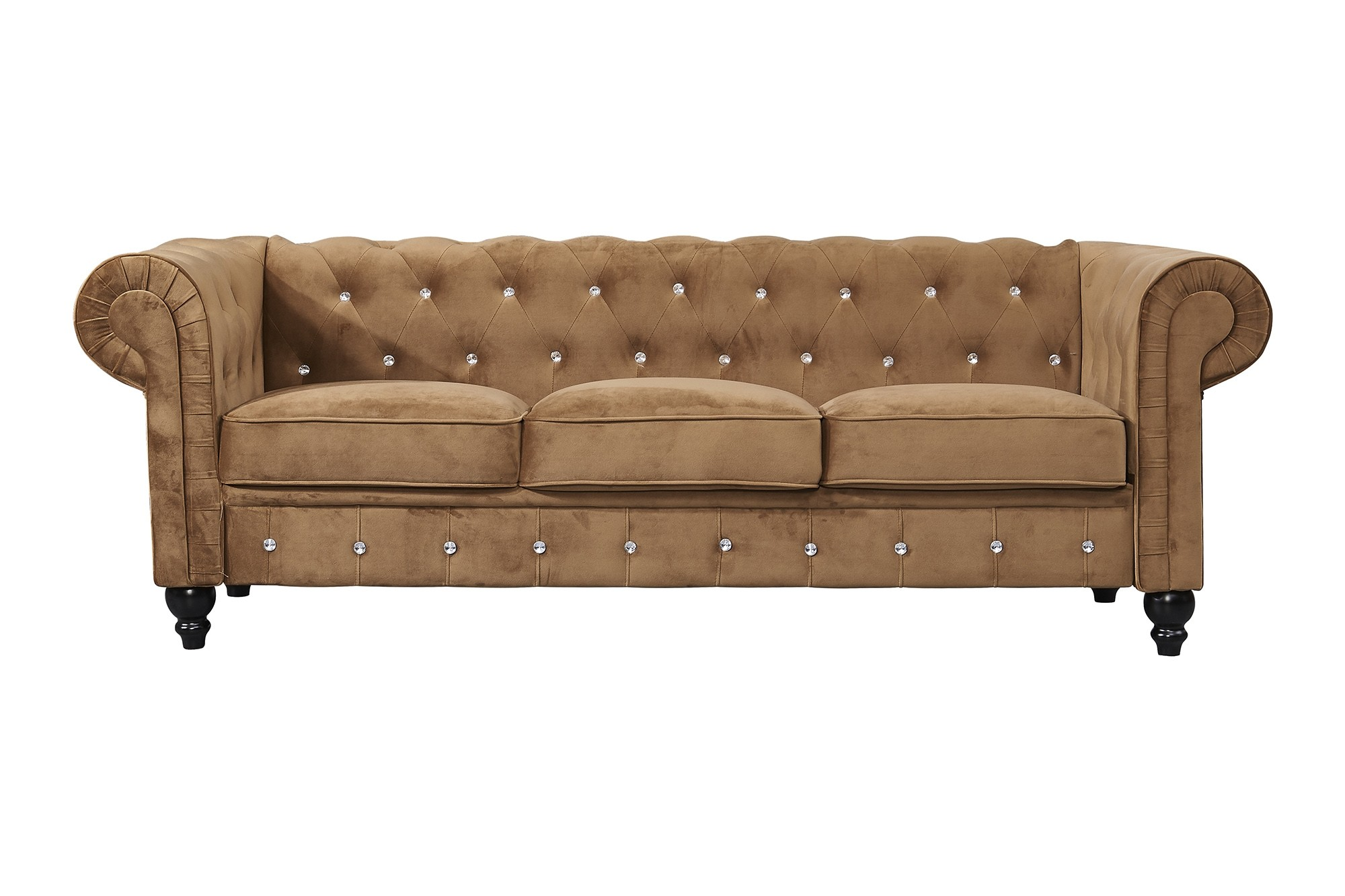 Allegra 3 Seater Chesterfield Sofa Brown