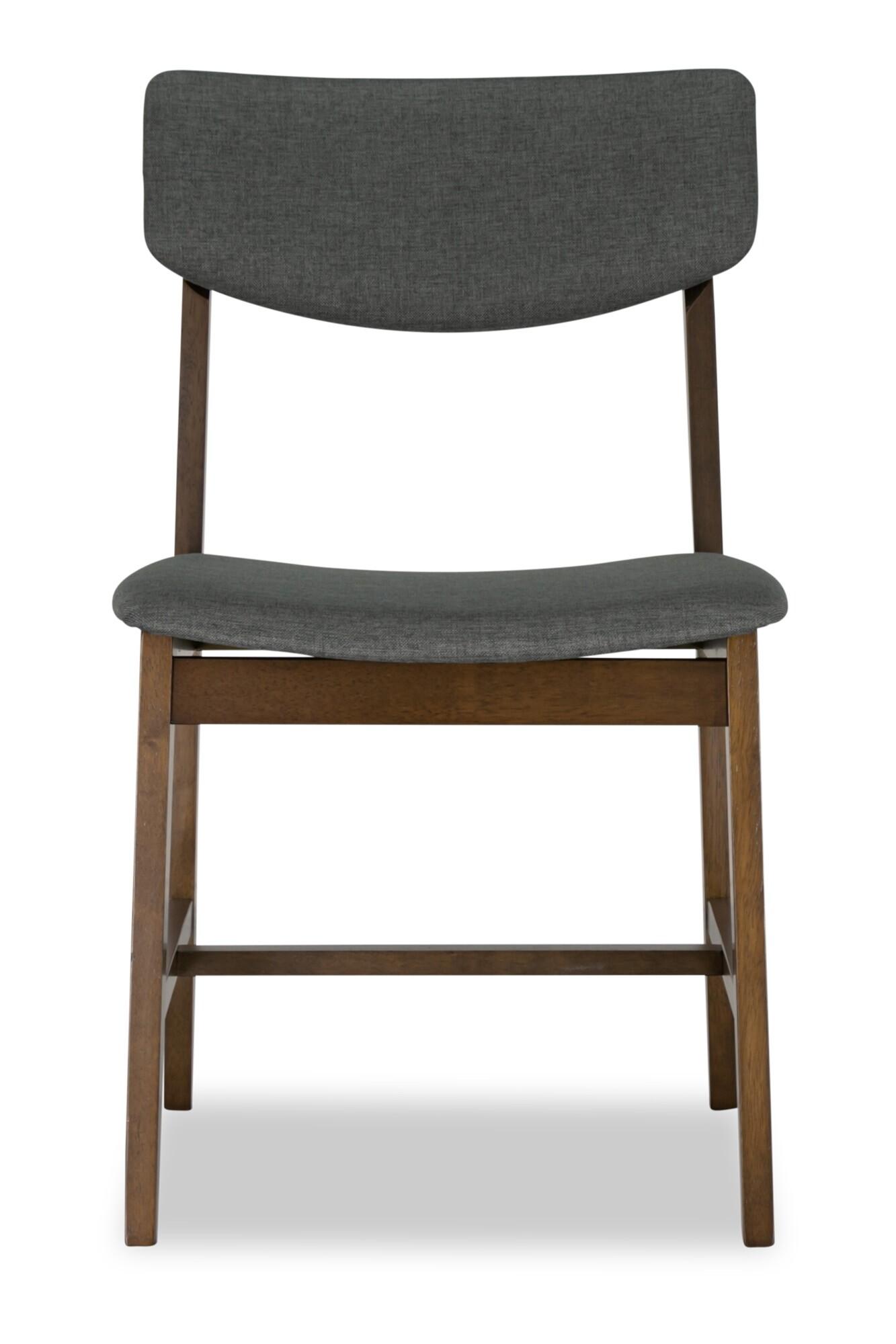 Steenie Dining Chair Walnut With Dark Grey Cushion Furniture
