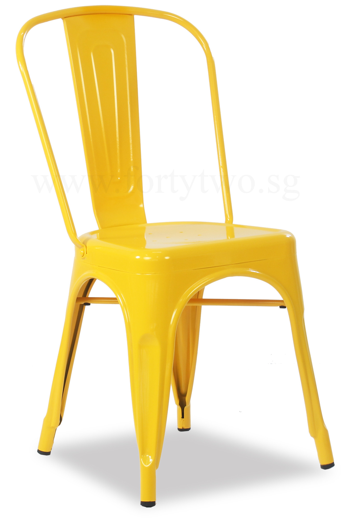 Retro Metal Chair Yellow