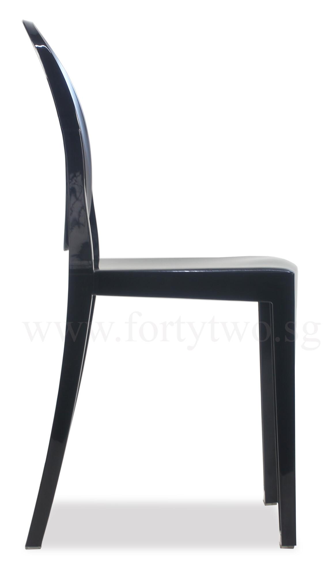 Designer Replica Louis Ghost Chair Black
