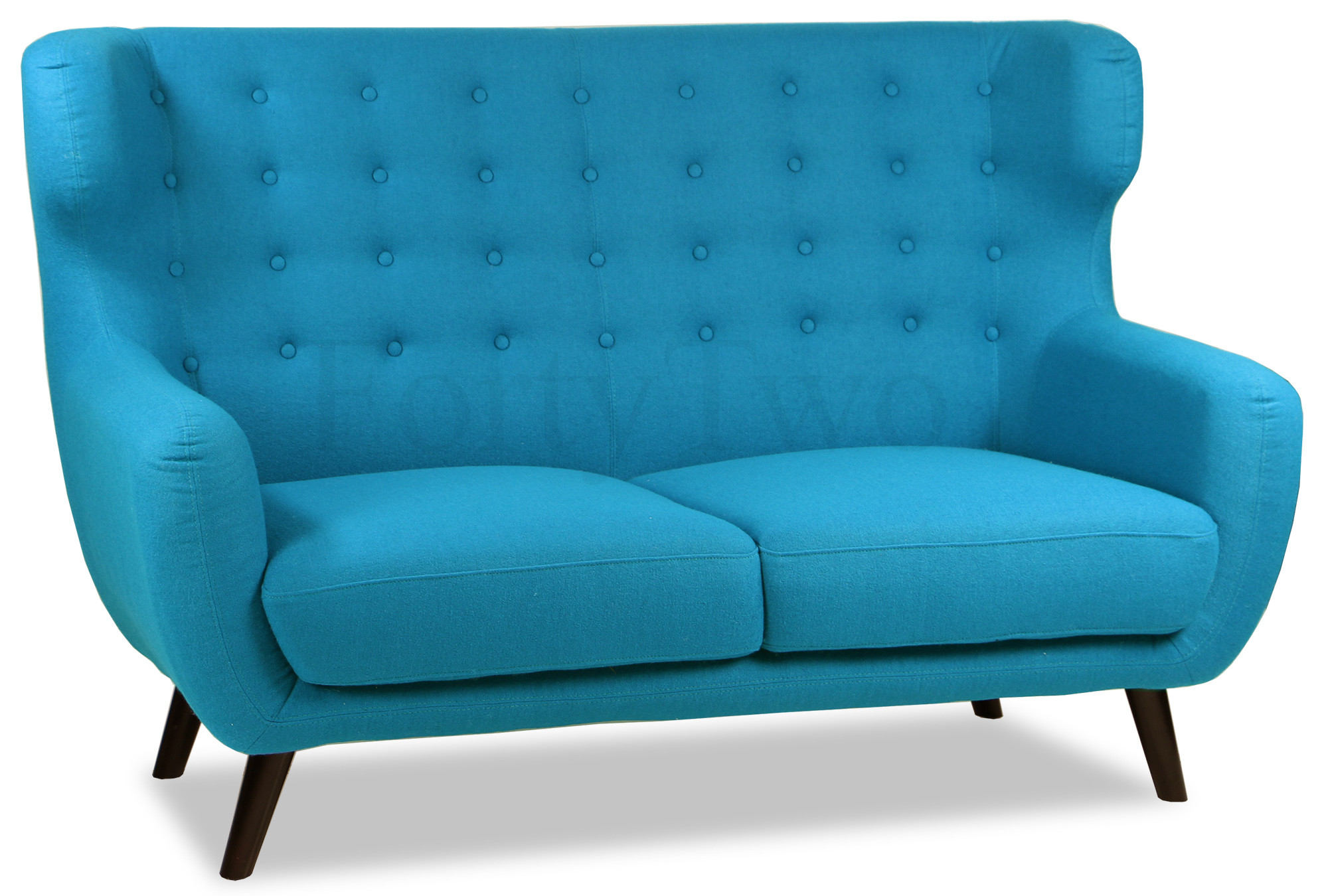Replica wingback designer 2 seater sofa aqua furniture for Designer sofa replica