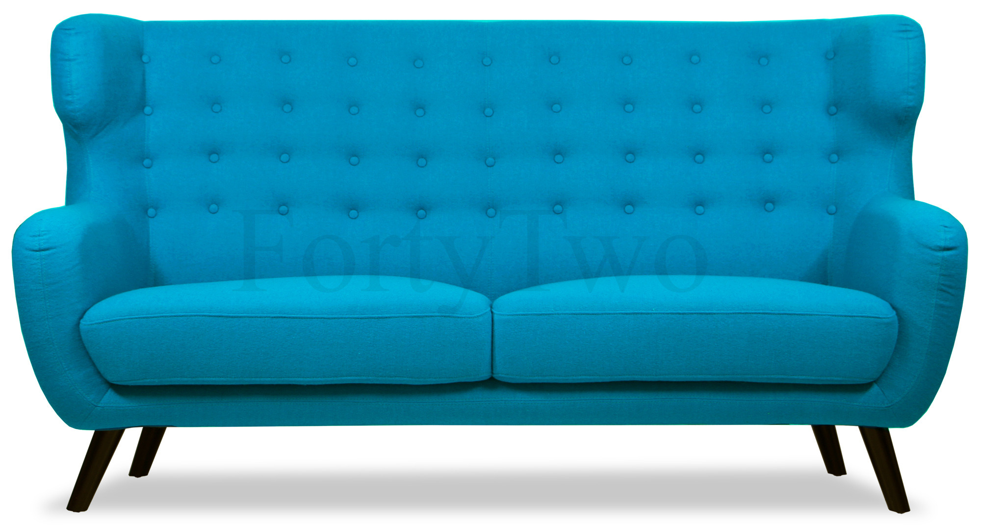 Replica wingback designer 3 seater sofa in aqua designer for Design sofa replica