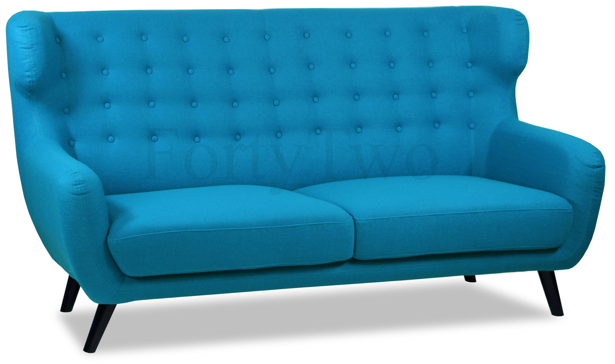 Replica Wingback Designer 3 Seater Sofa In Aqua