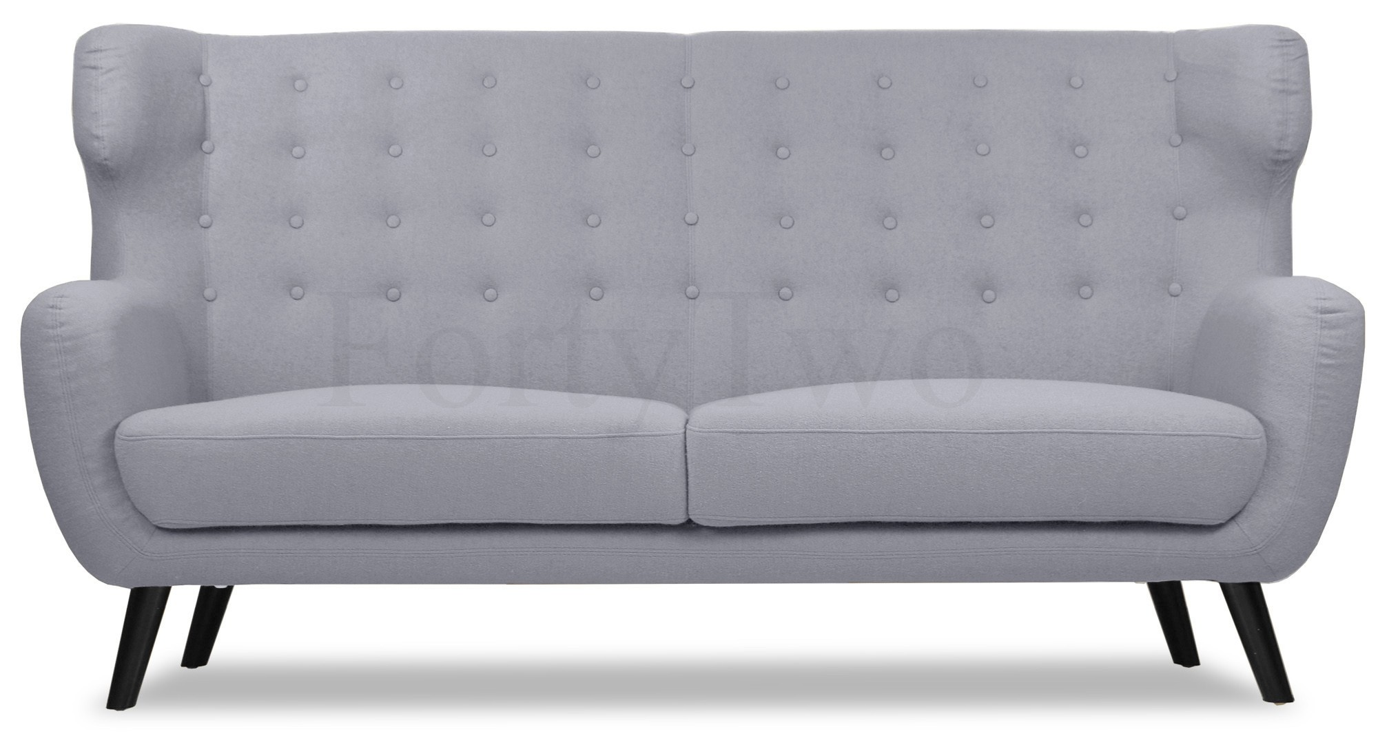 grey 3 seater sofa lincoln fabric 3 seater sofa in grey. Black Bedroom Furniture Sets. Home Design Ideas