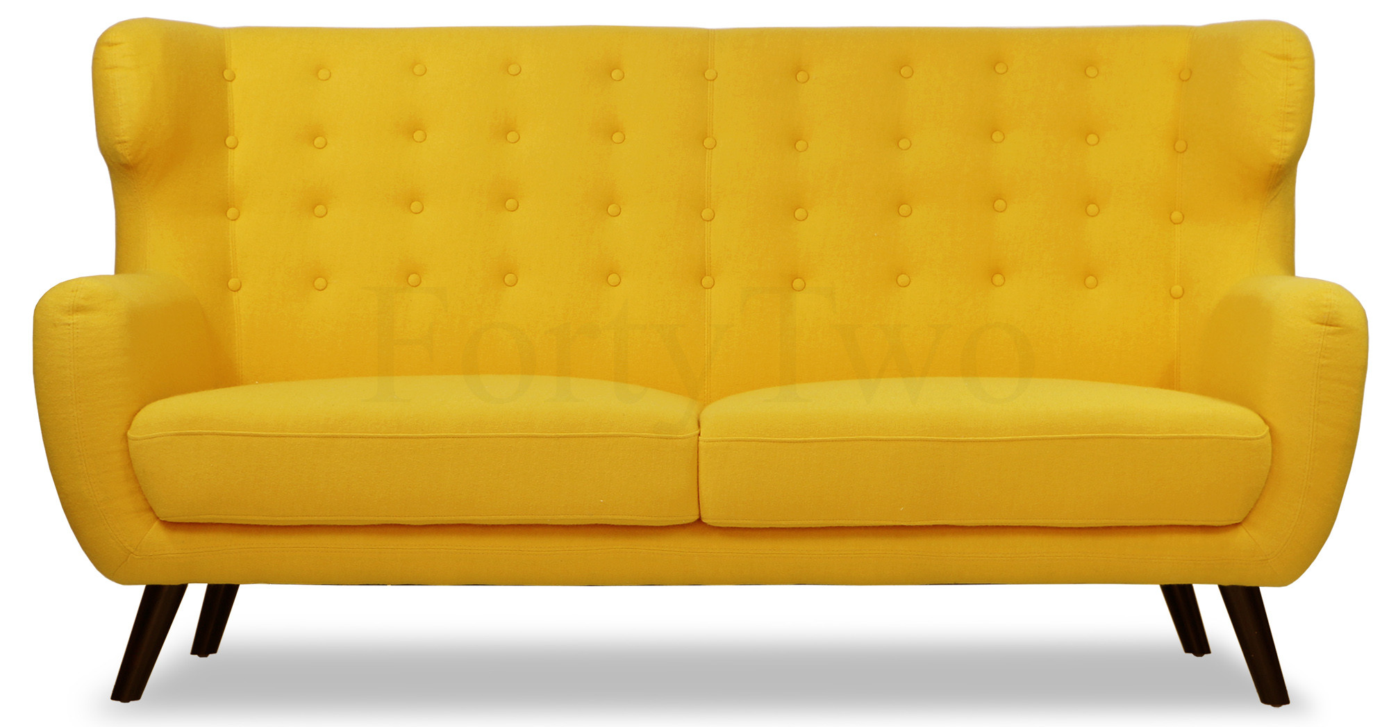 Replica WingBack Designer 3 Seater Sofa in Yellow Furniture& Home Décor FortyTwo