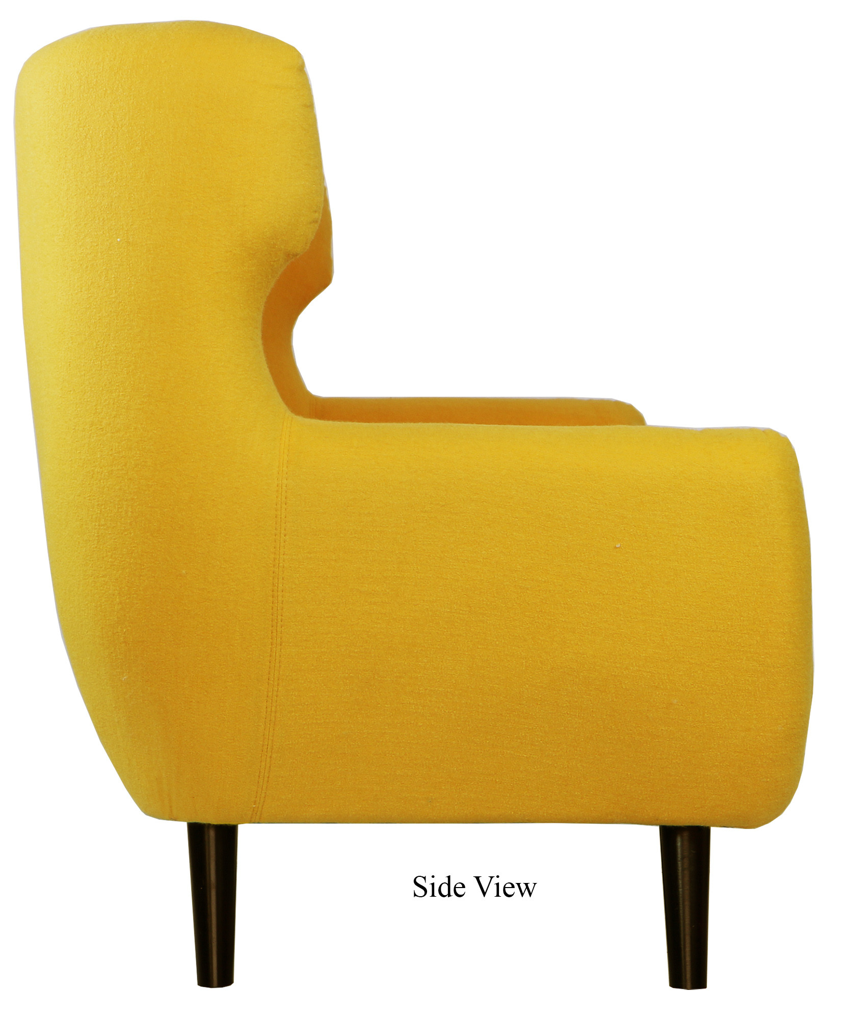 Replica Wingback Designer 3 Seater Sofa In Yellow