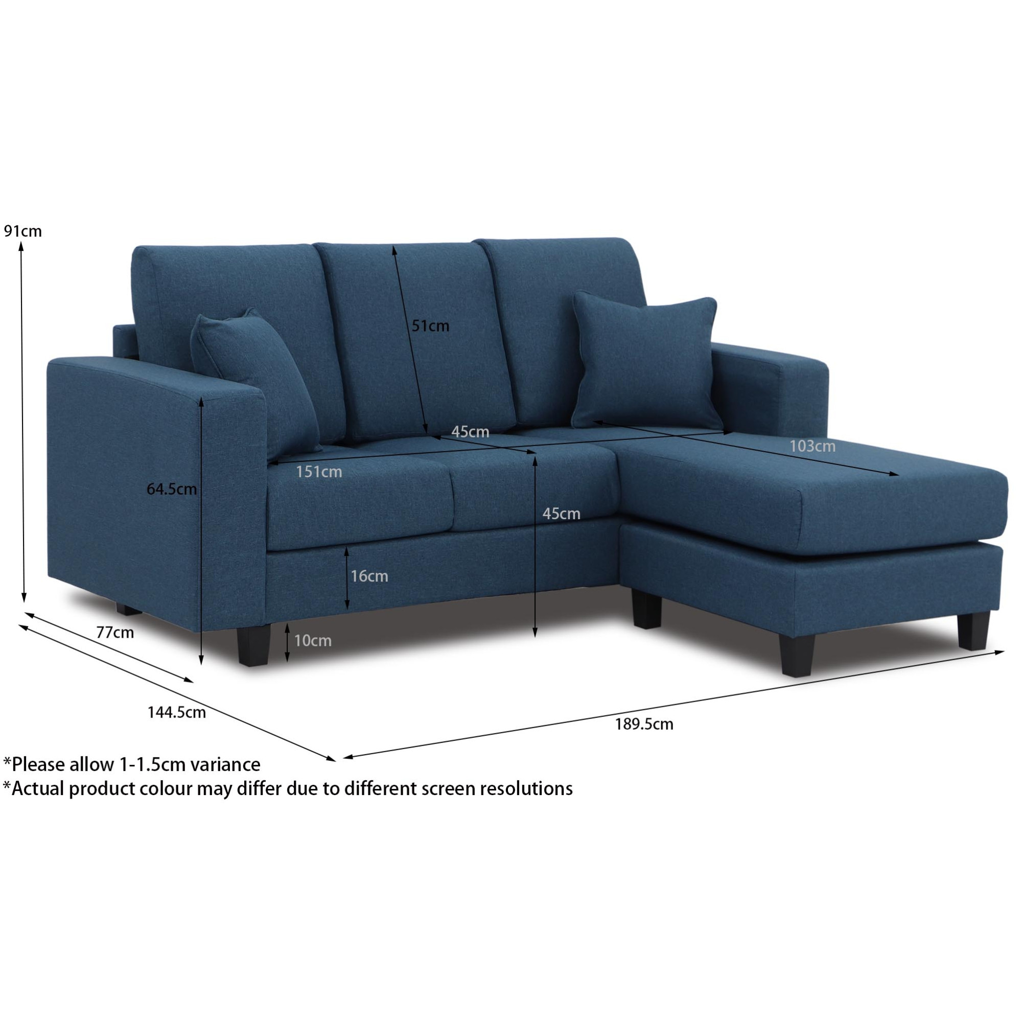 Homer Fabric L Shaped Sofa Furniture Home Decor Fortytwo