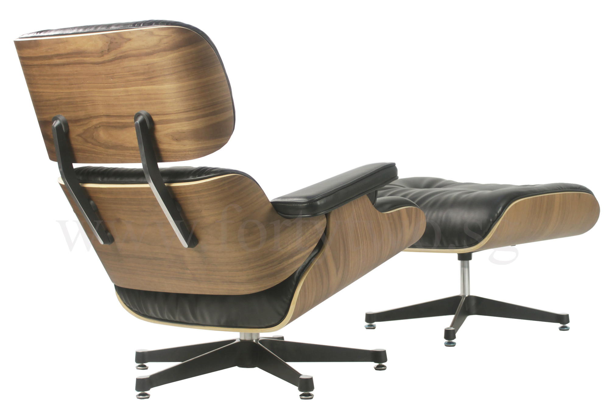 Designer replica eames lounge chair black furniture for Reproduction designer furniture