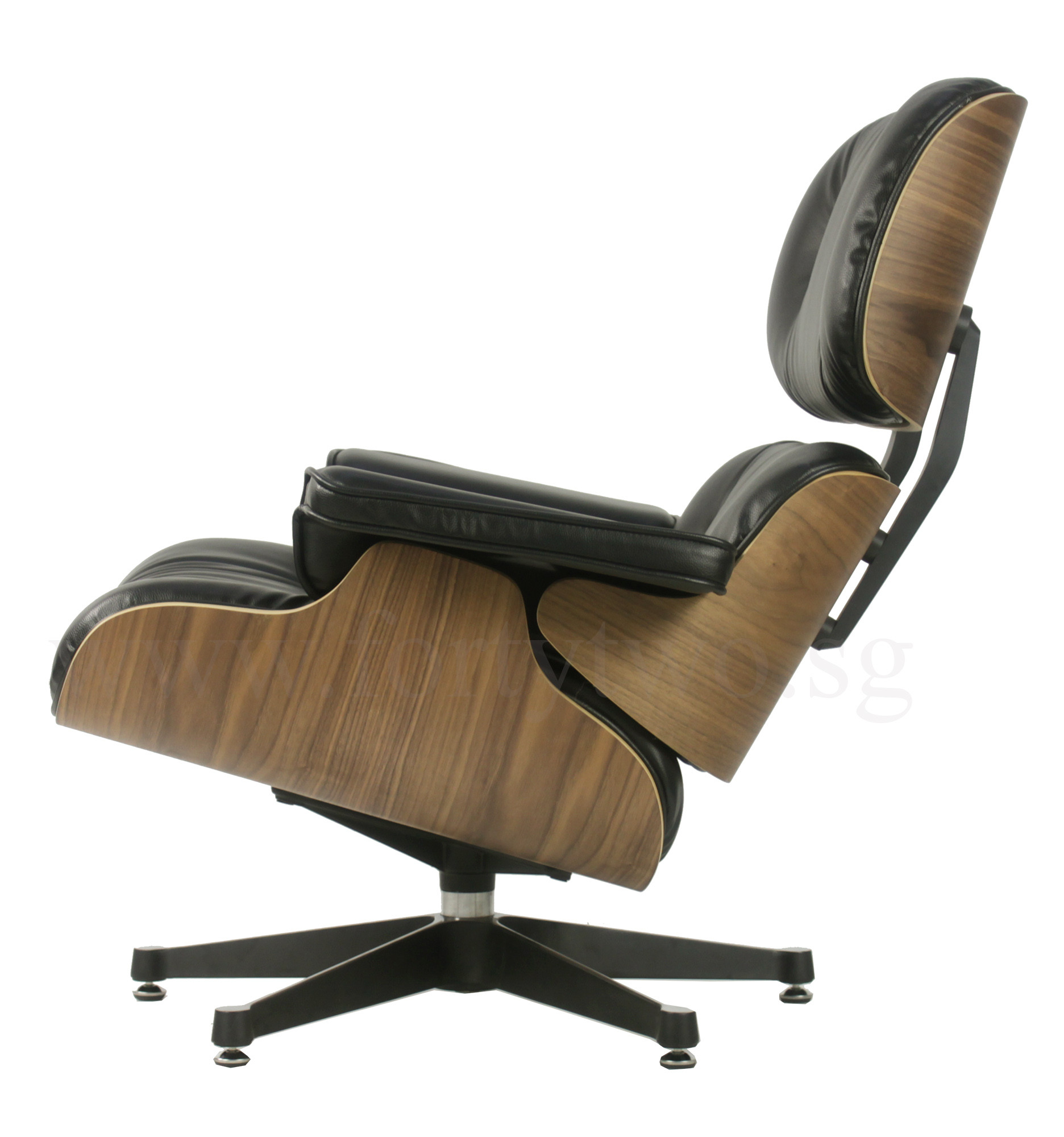 Eames Lounge Stoel Replica.Eames Replica Lounge Chair Black Leather