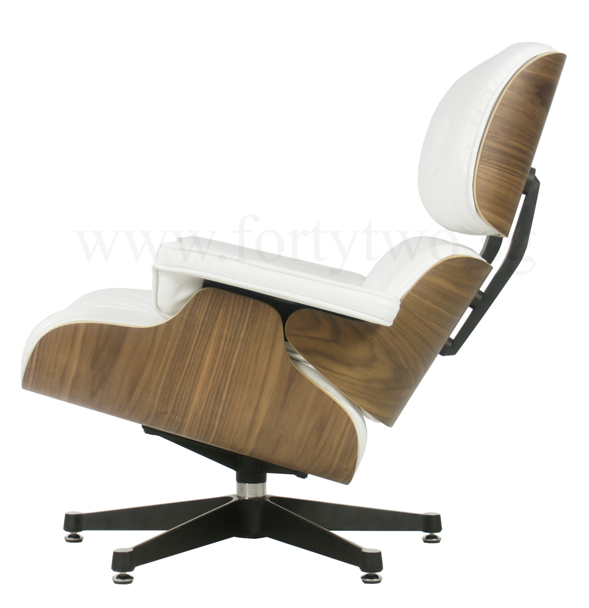 Eames Replica Lounge Chair White Leather Furniture