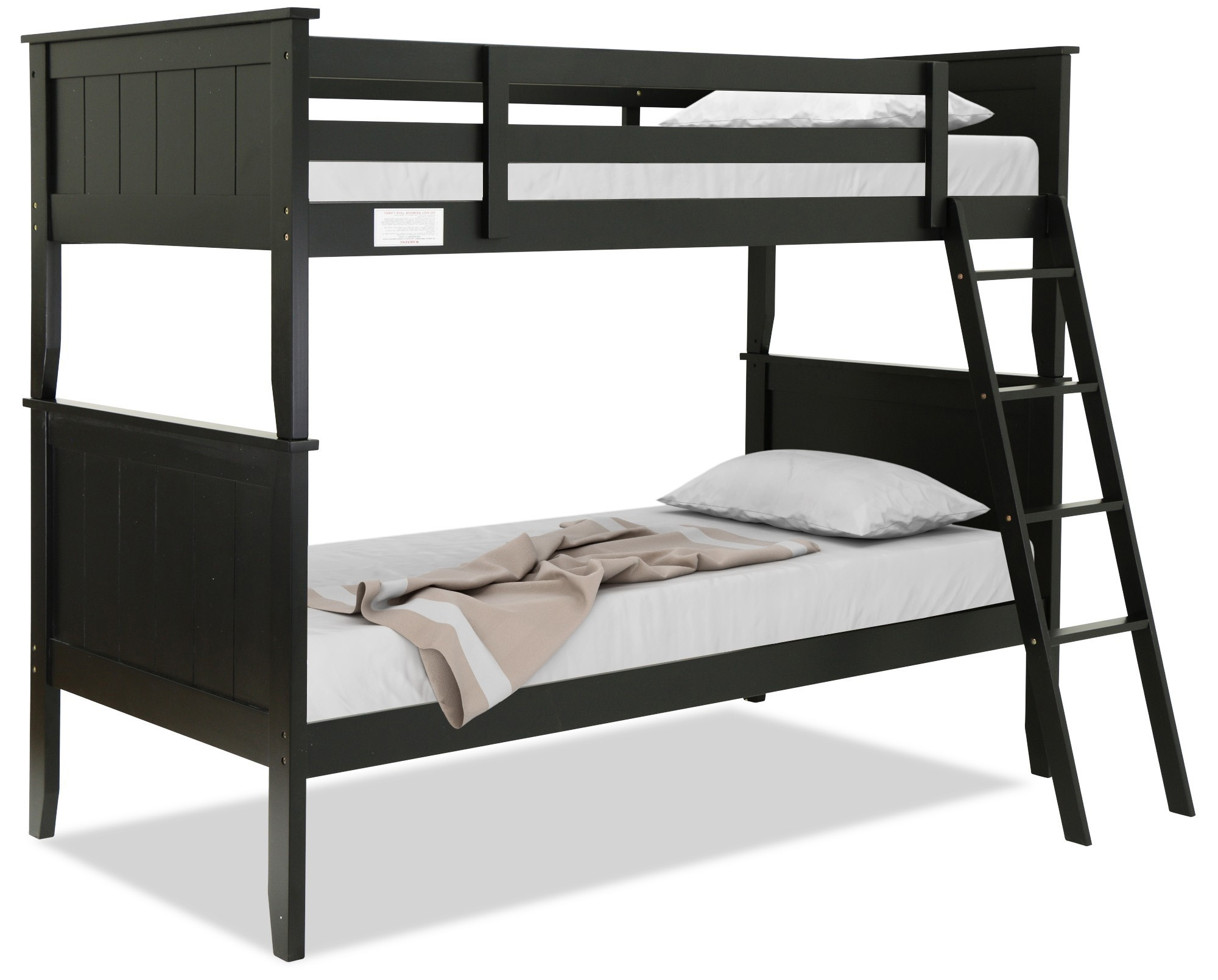 Agatha Wooden Bunk Bed Black Furniture Home Decor Fortytwo