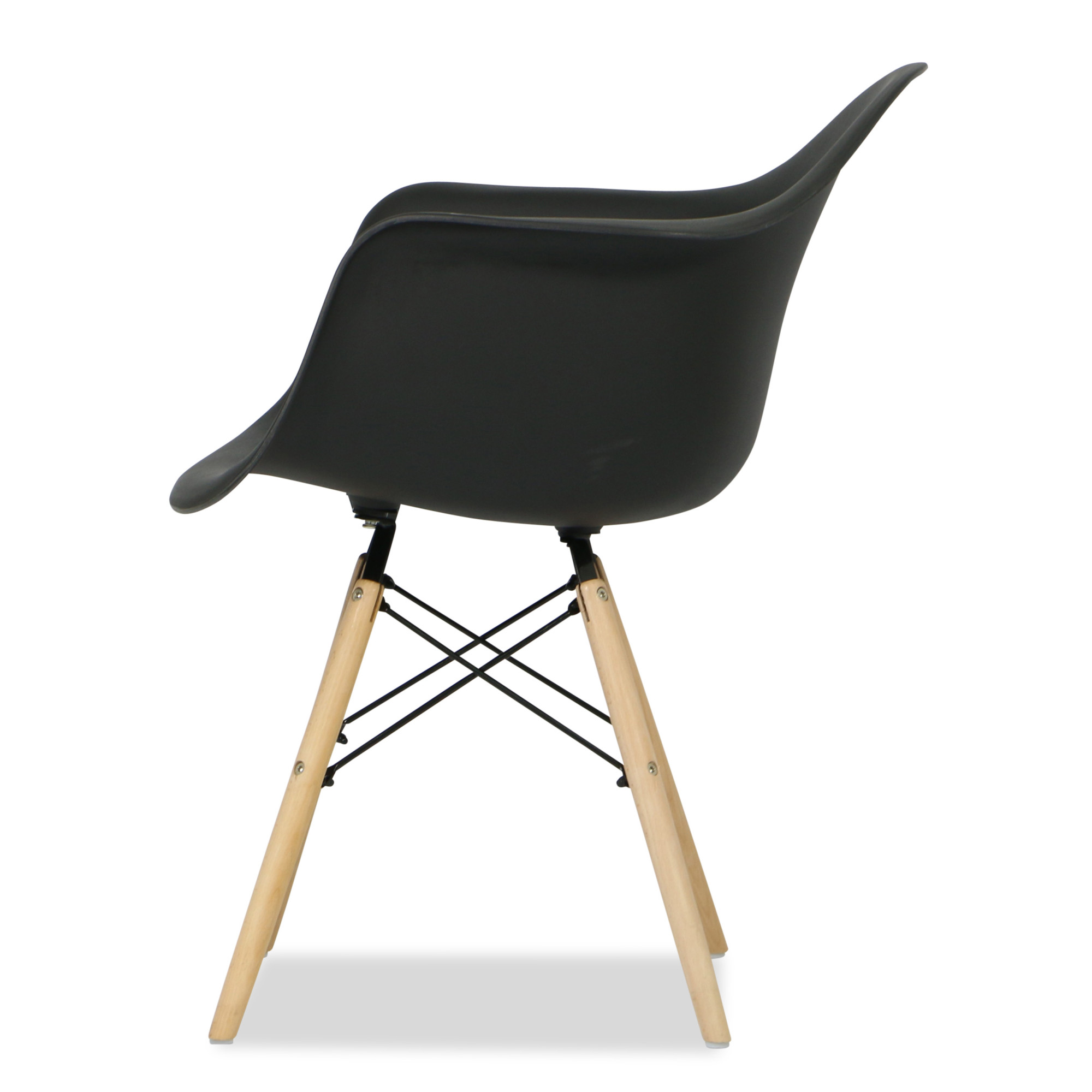 Eames replica designer arm chair black furniture for Imitation designer chairs
