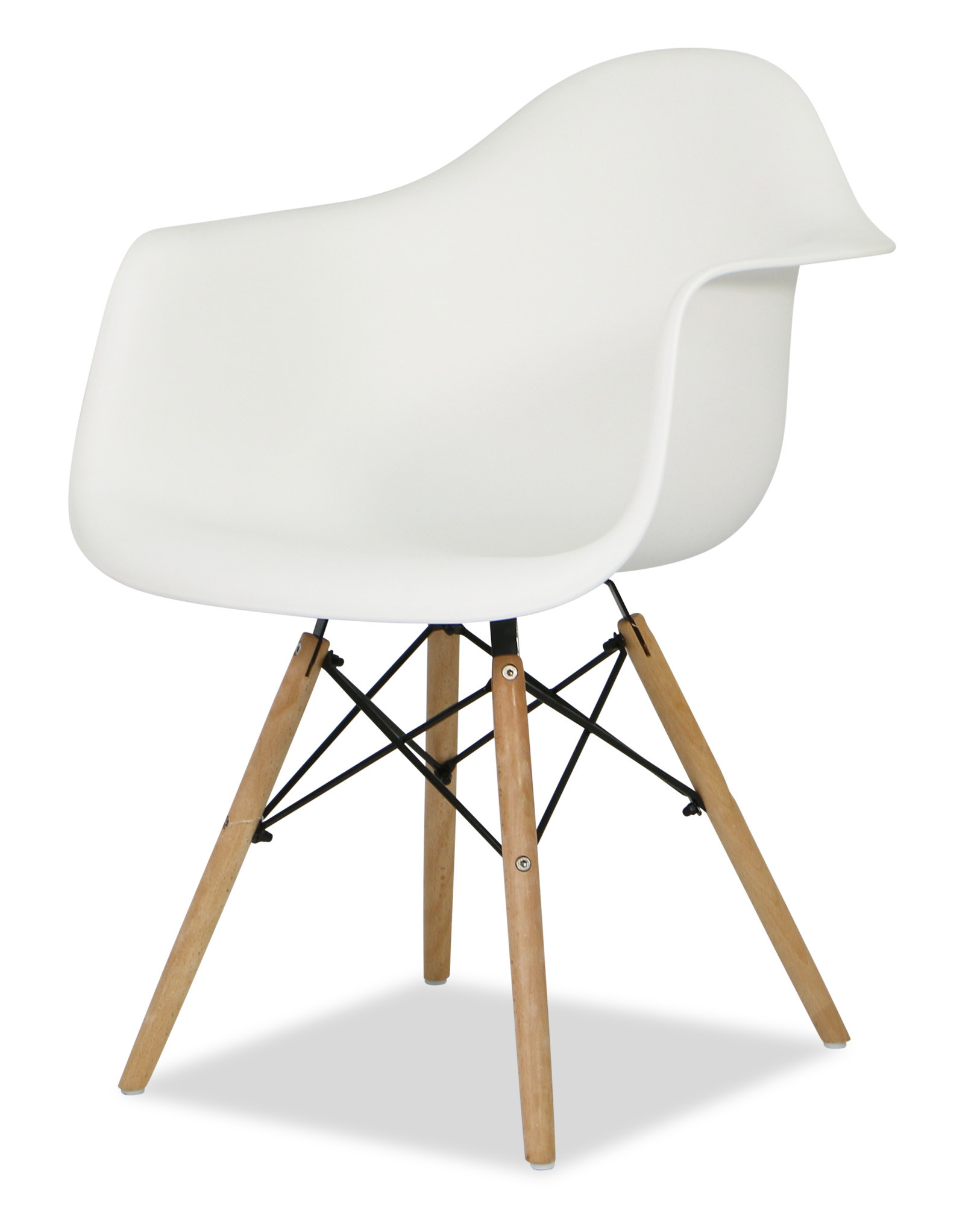 Eames replica designer arm chair white armchairs for Imitation designer chairs