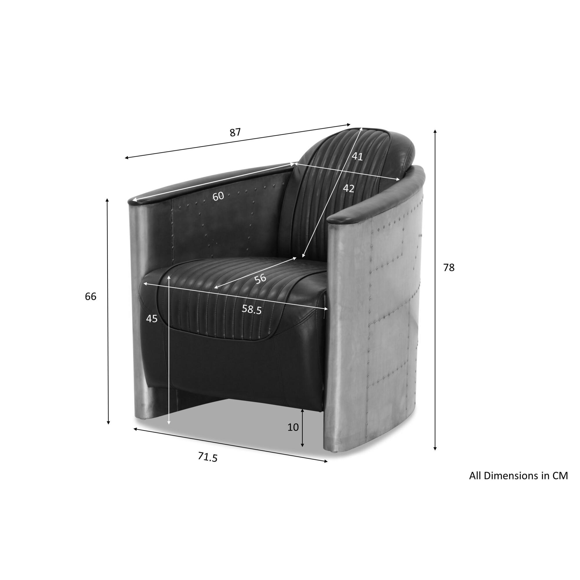 Pleasant Aviator Replica Armchair Old Brown Pu Leather Aluminium Silver Beatyapartments Chair Design Images Beatyapartmentscom