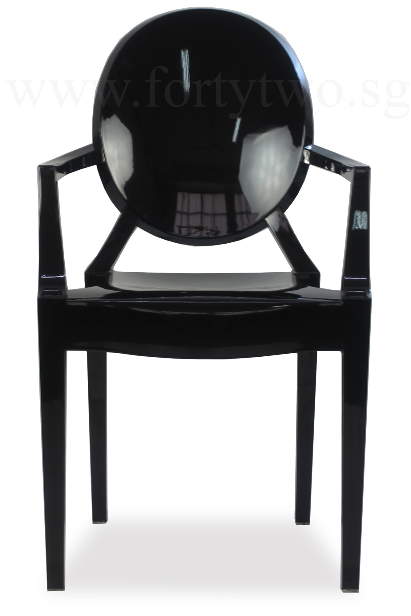 designer replica louis ghost arm chair black furniture home d cor fortytwo. Black Bedroom Furniture Sets. Home Design Ideas