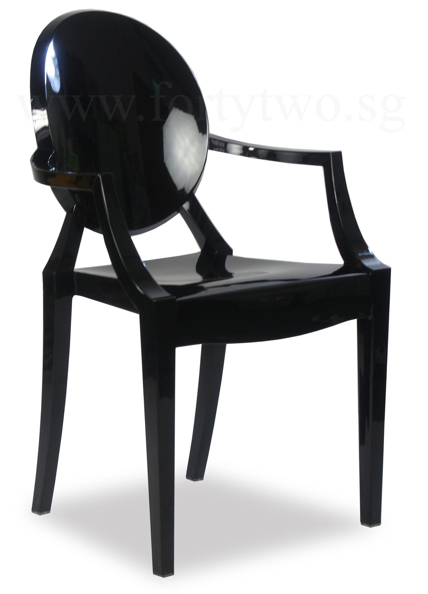 Designer Replica Louis Ghost Arm Chair Black. Display Gallery Item 1 ...