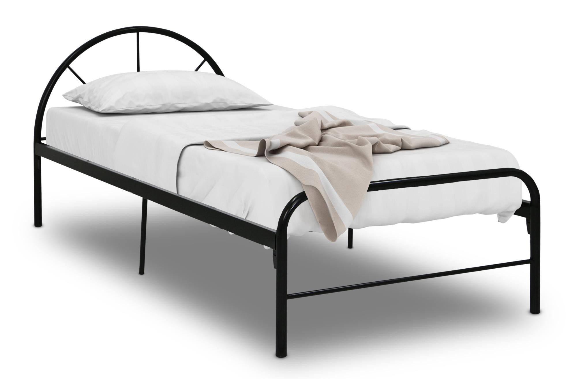 Bay single metal bed frame black metal bed frames for Single bed furniture set