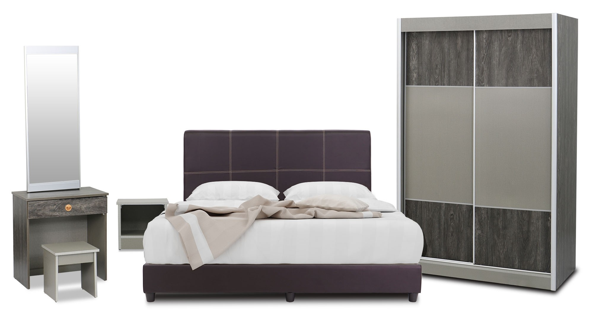 Solaris 5 Piece Bedroom Set Queen Size