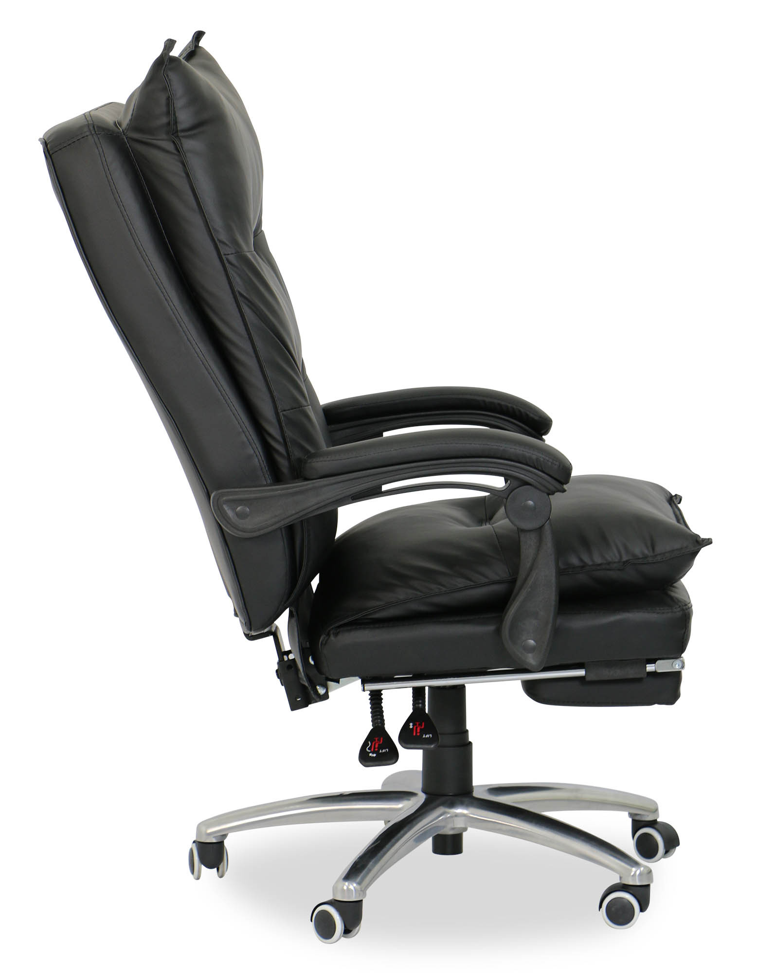 Deluxe Pu Executive Office Chair Black 51 Customer Reviews