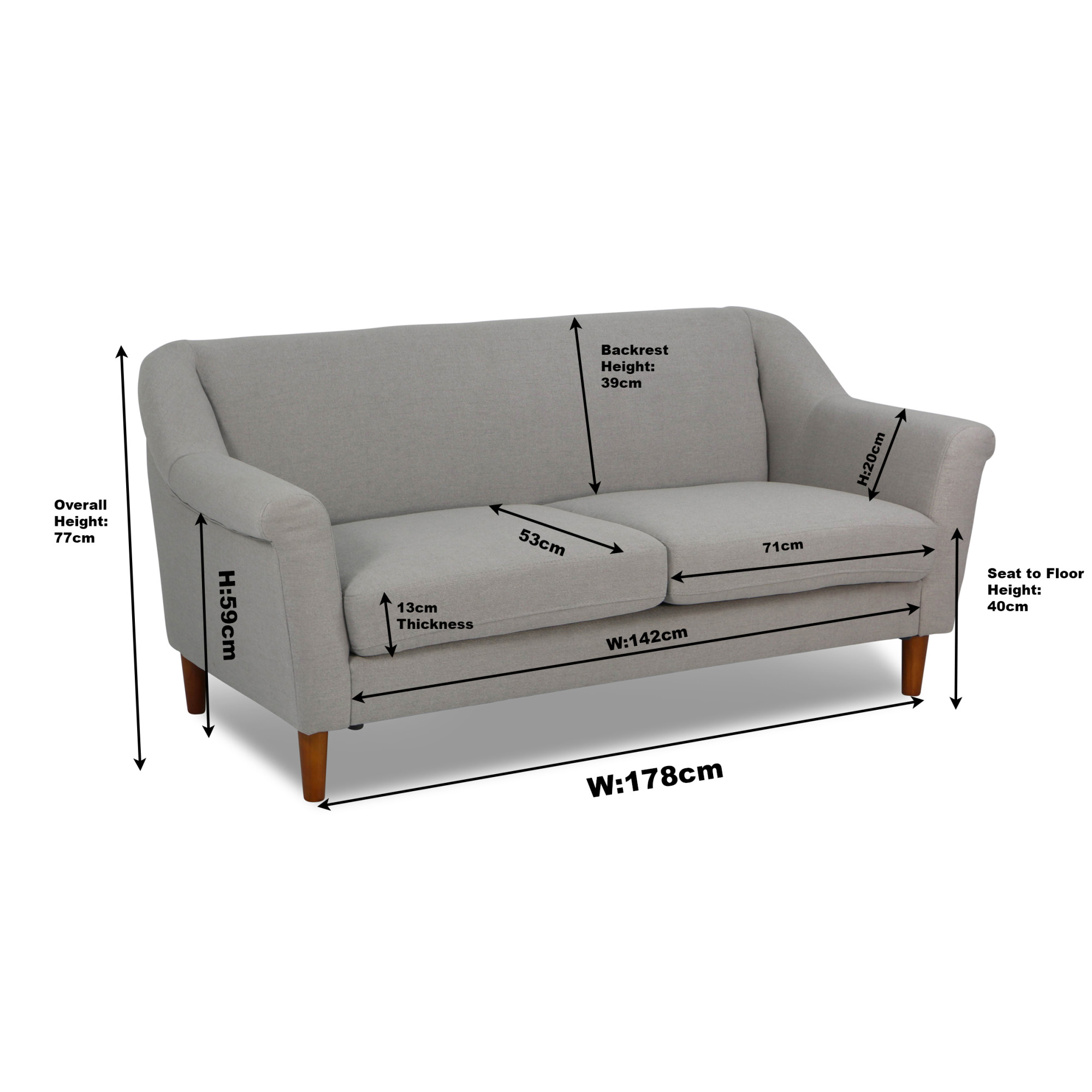 Ln Fabric 3 Seater Sofa Regular Price S 546 90
