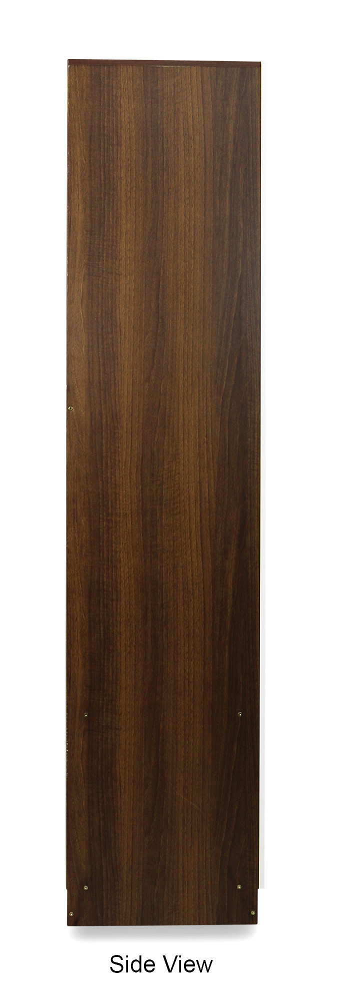 Malcom 3 Door Wardrobe In Snow White And Walnut