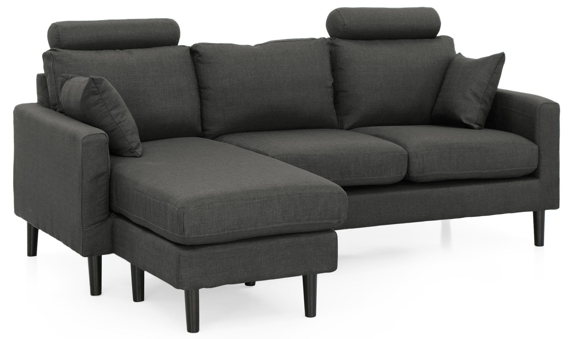 Earvin L-Shape Sofa (Grey)