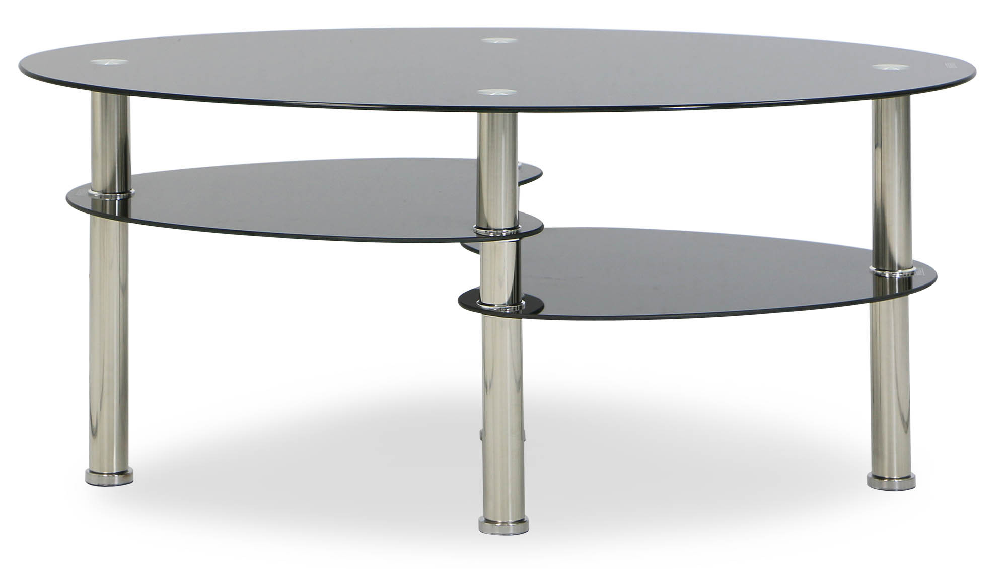 Krystal Eclipse Black Tempered Glass Coffee Table Furniture Home D Cor Fortytwo