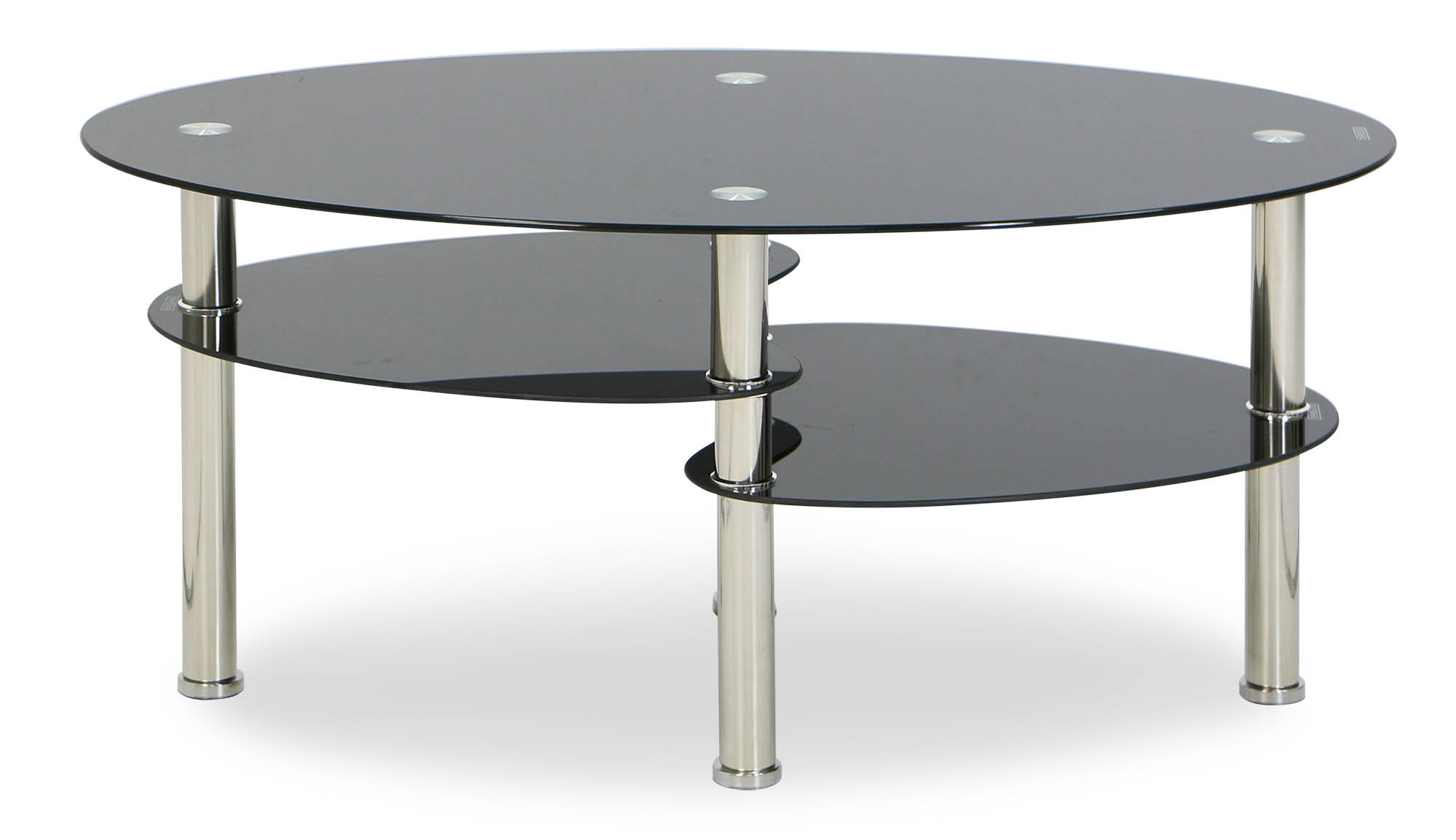 Krystal eclipse black tempered glass coffee table for Tempered glass coffee table