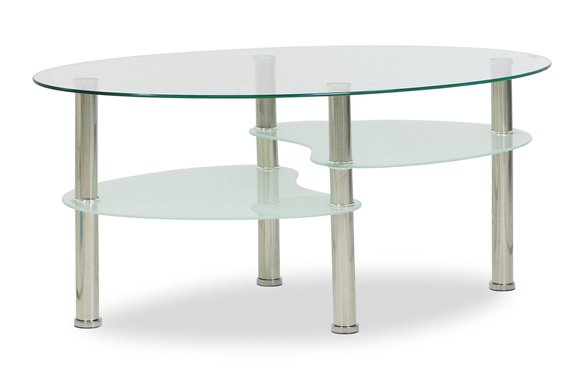 Krystal Eclipse Tempered Glass Coffee Table Coffee Tables Living Room Furniture Furniture