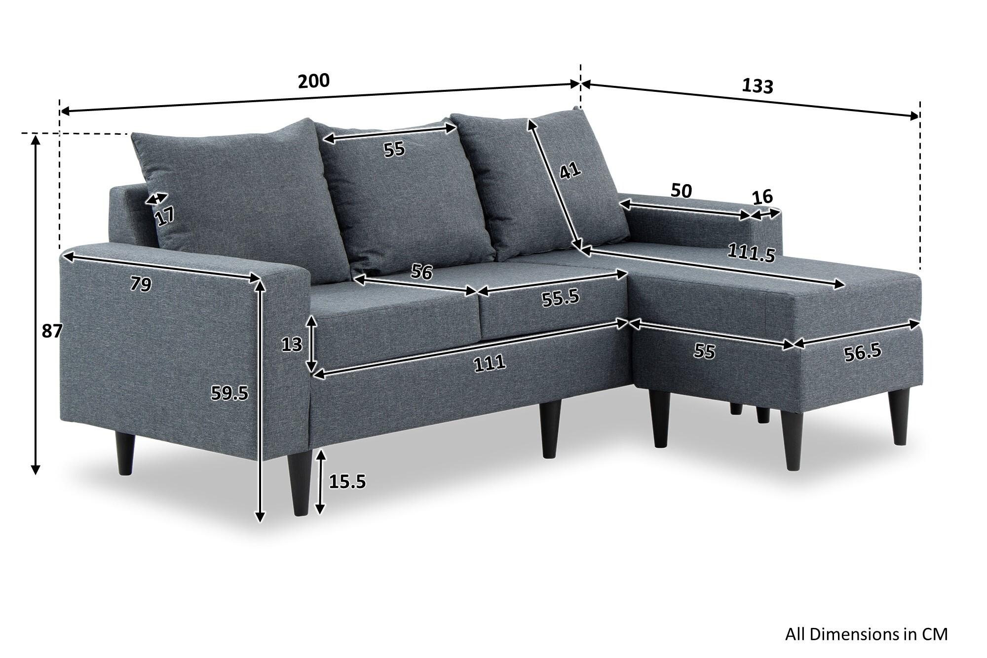 Ejiro Ii L Shape Sofa Furniture