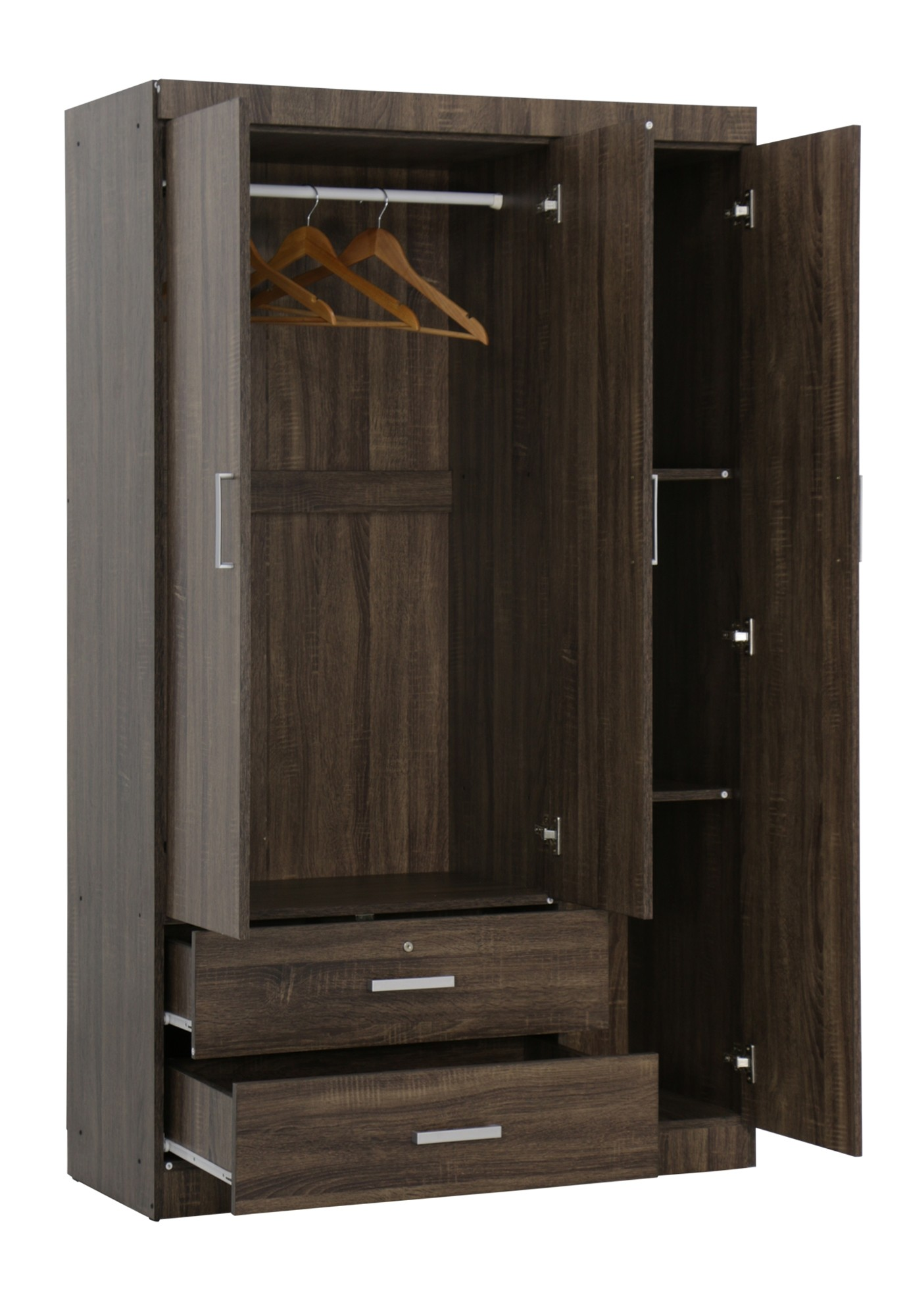 Elifel 3 Door Wardrobe In Walnut Furniture Amp Home D 233 Cor Fortytwo