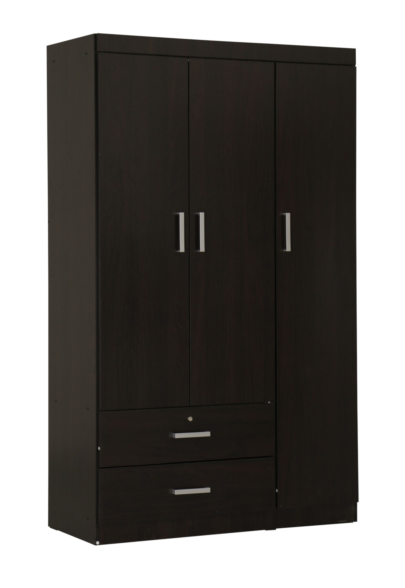 elifel 3 door wardrobe in wenge furniture home d cor. Black Bedroom Furniture Sets. Home Design Ideas