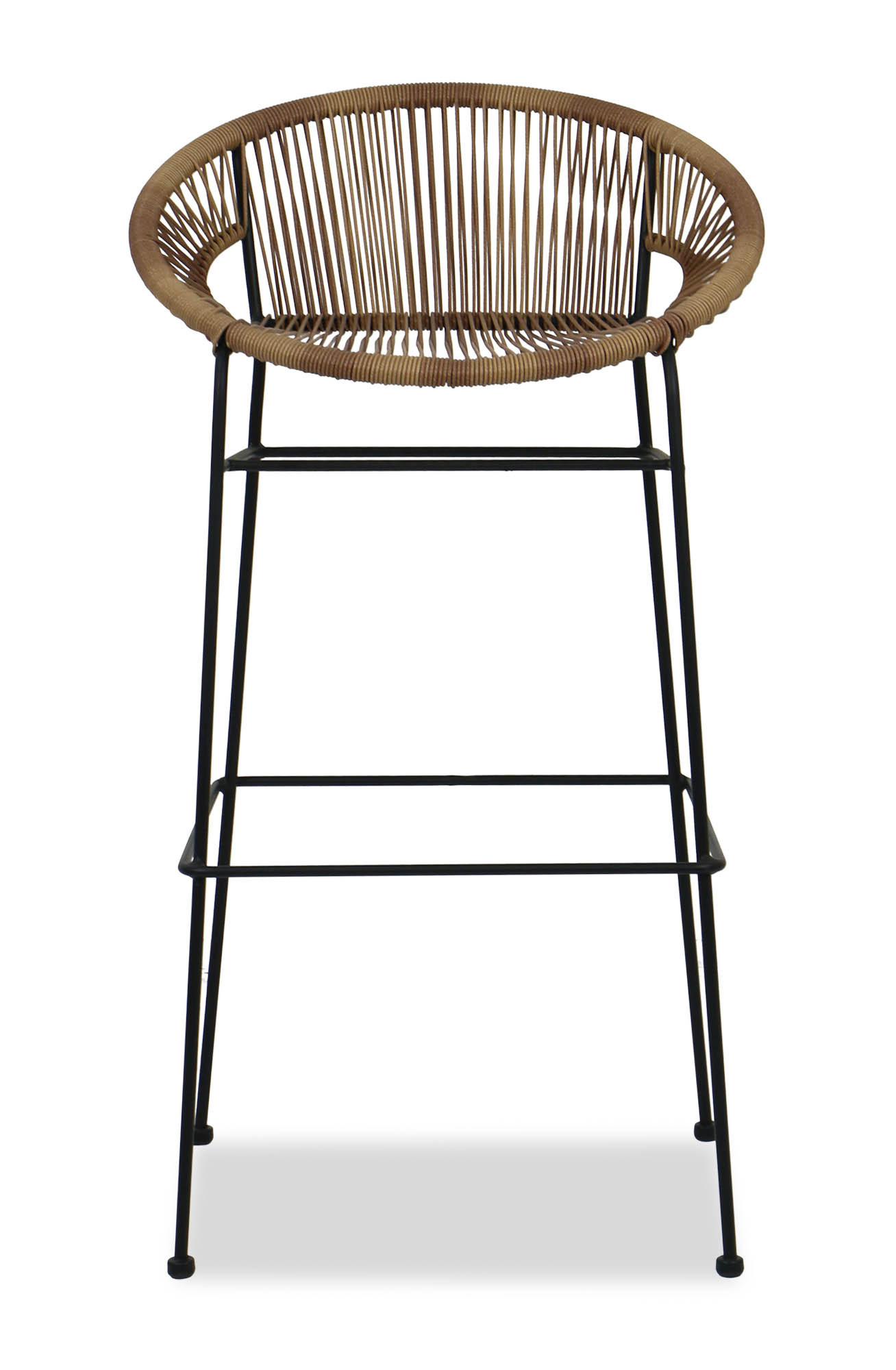 Elliot wicker bar chair brown