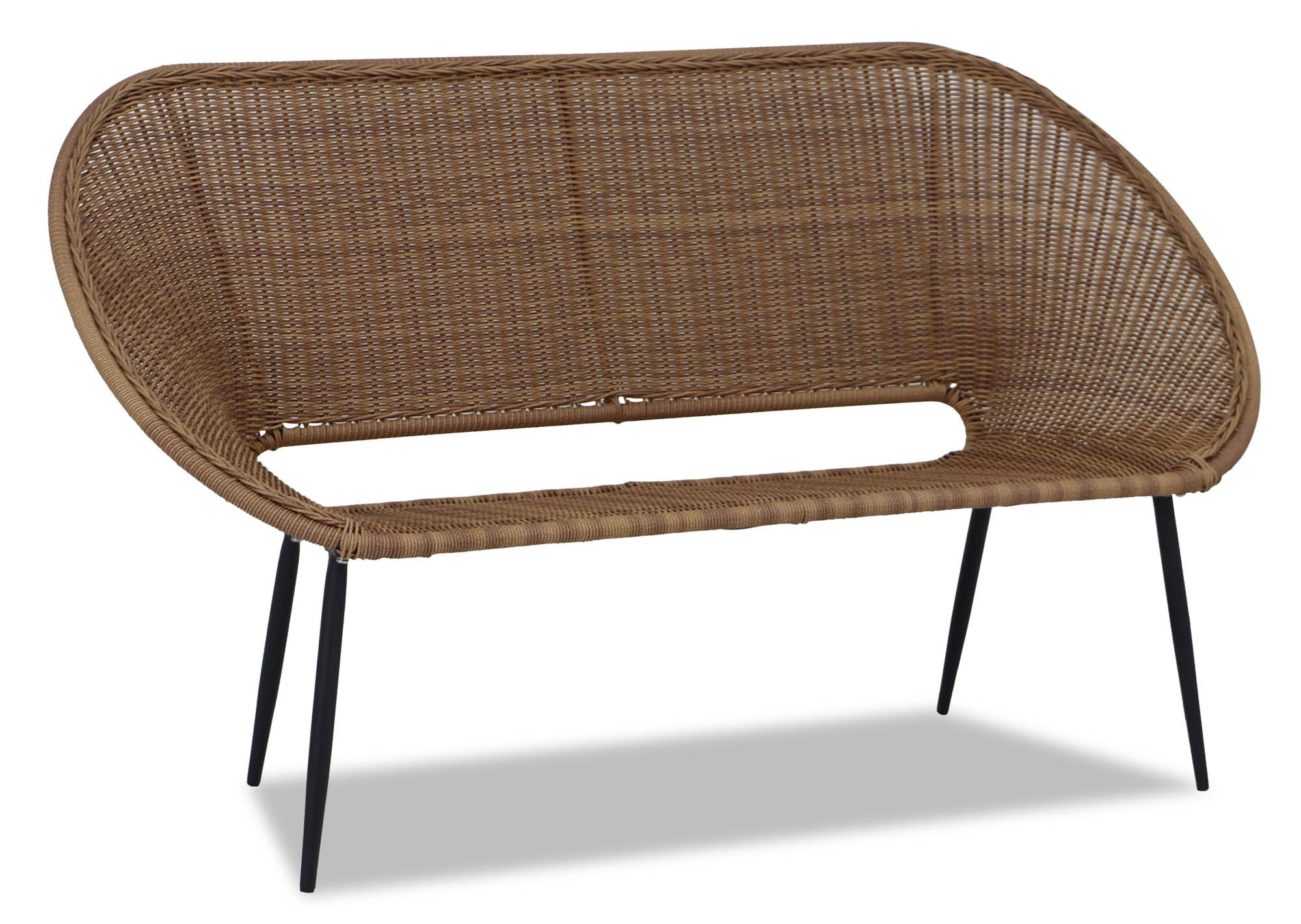 Alikhan Wicker Patio Sofa Sofas Sofa Beds Recliners