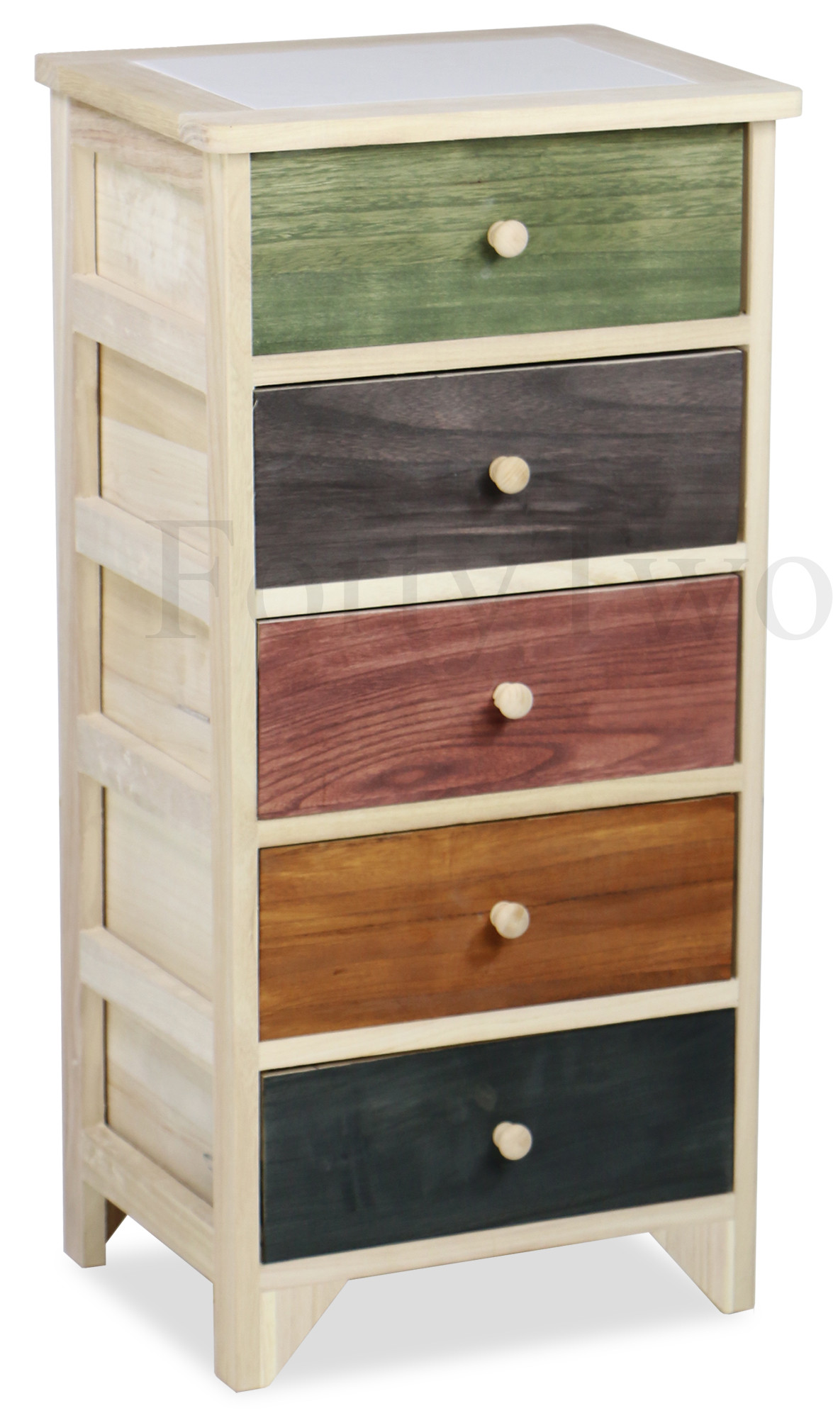 shabby chic 5 drawer hand crafted cabinet furniture home d cor fortytwo. Black Bedroom Furniture Sets. Home Design Ideas