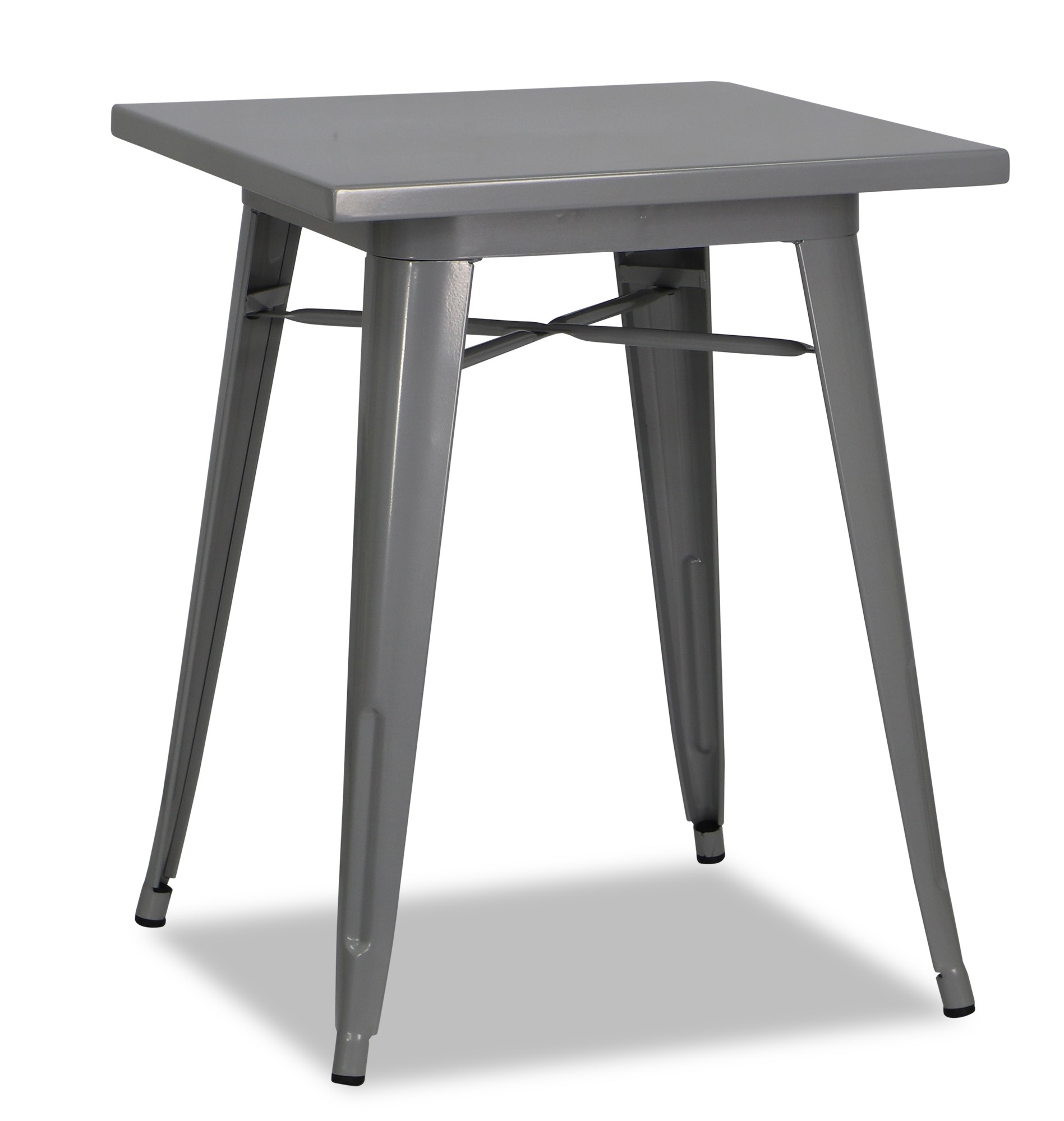 tolia metal bistro table in grey furniture home d cor. Black Bedroom Furniture Sets. Home Design Ideas
