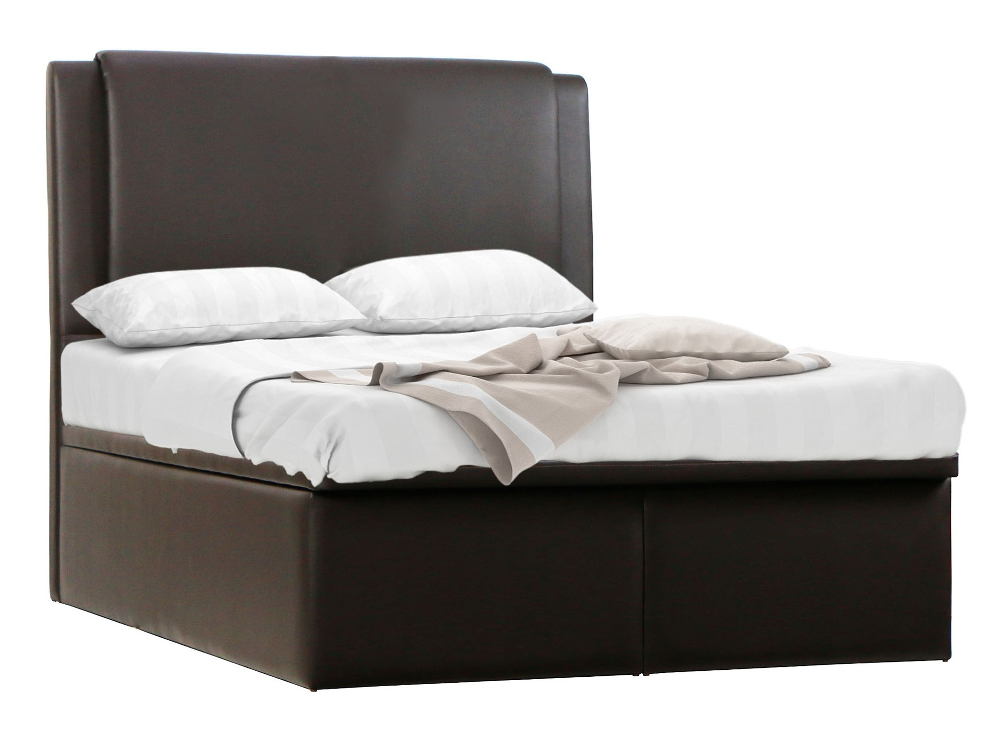 Mavin Storage Bedframe In Dark Brown Furniture Amp Home