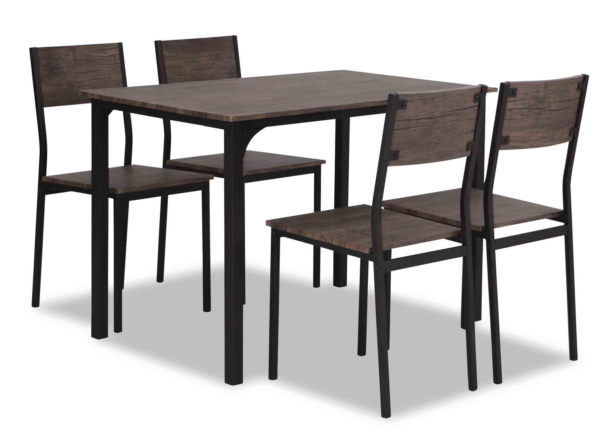 Hina Dining Set In Dark Natural Oak Furniture Home Décor Fortytwo
