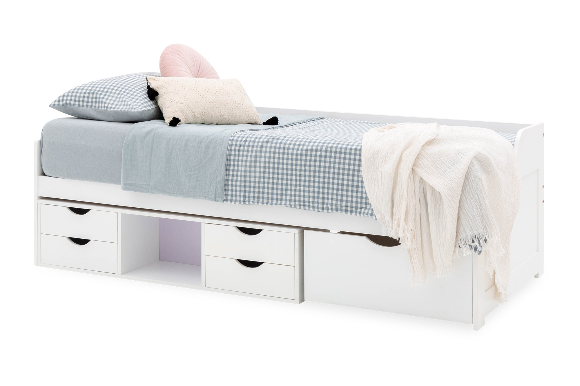Alabaster Single Day Bed With Drawers White Furniture Home Decor Fortytwo