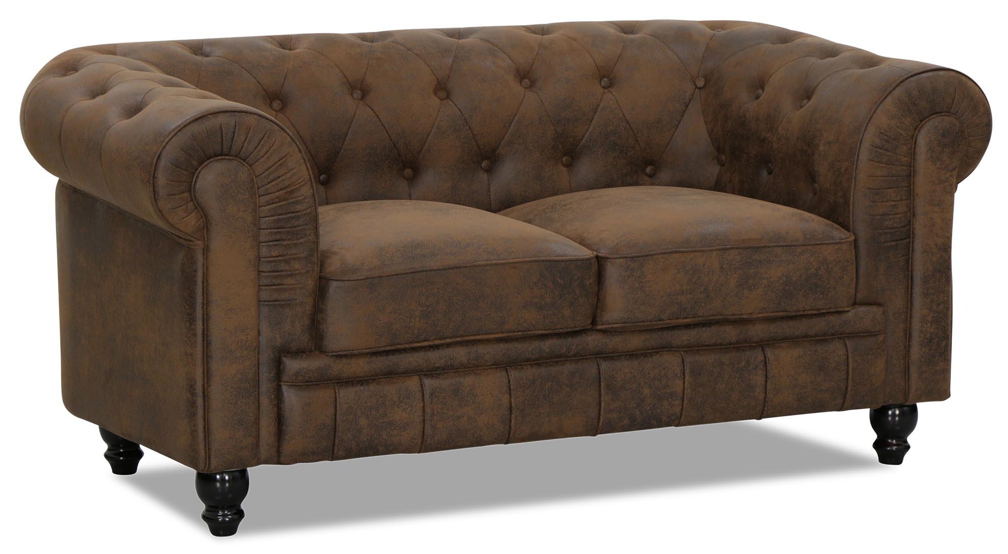 Benjamin Clical 2 Seater Vintage Pu Leather Sofa