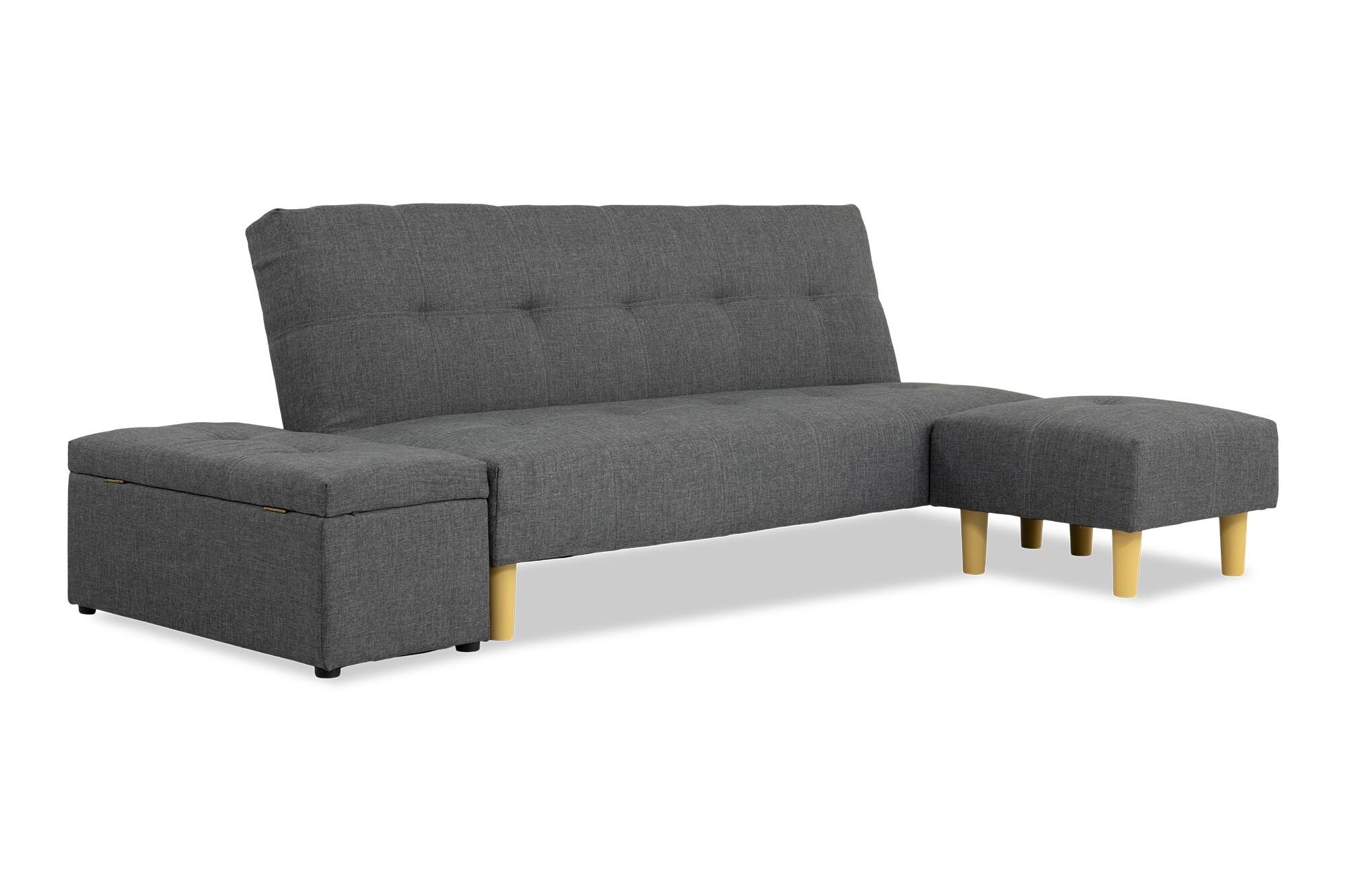 Wongg 4 Seater Sofa Bed Set Fabric