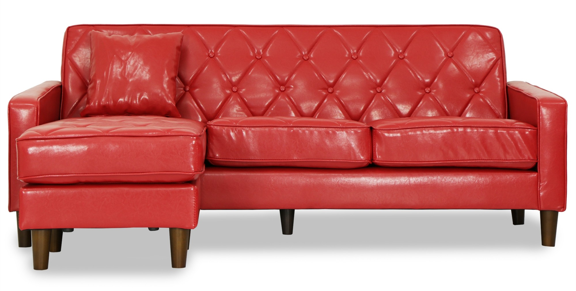 Rokurou 3 Seater L Shape Sofa Red