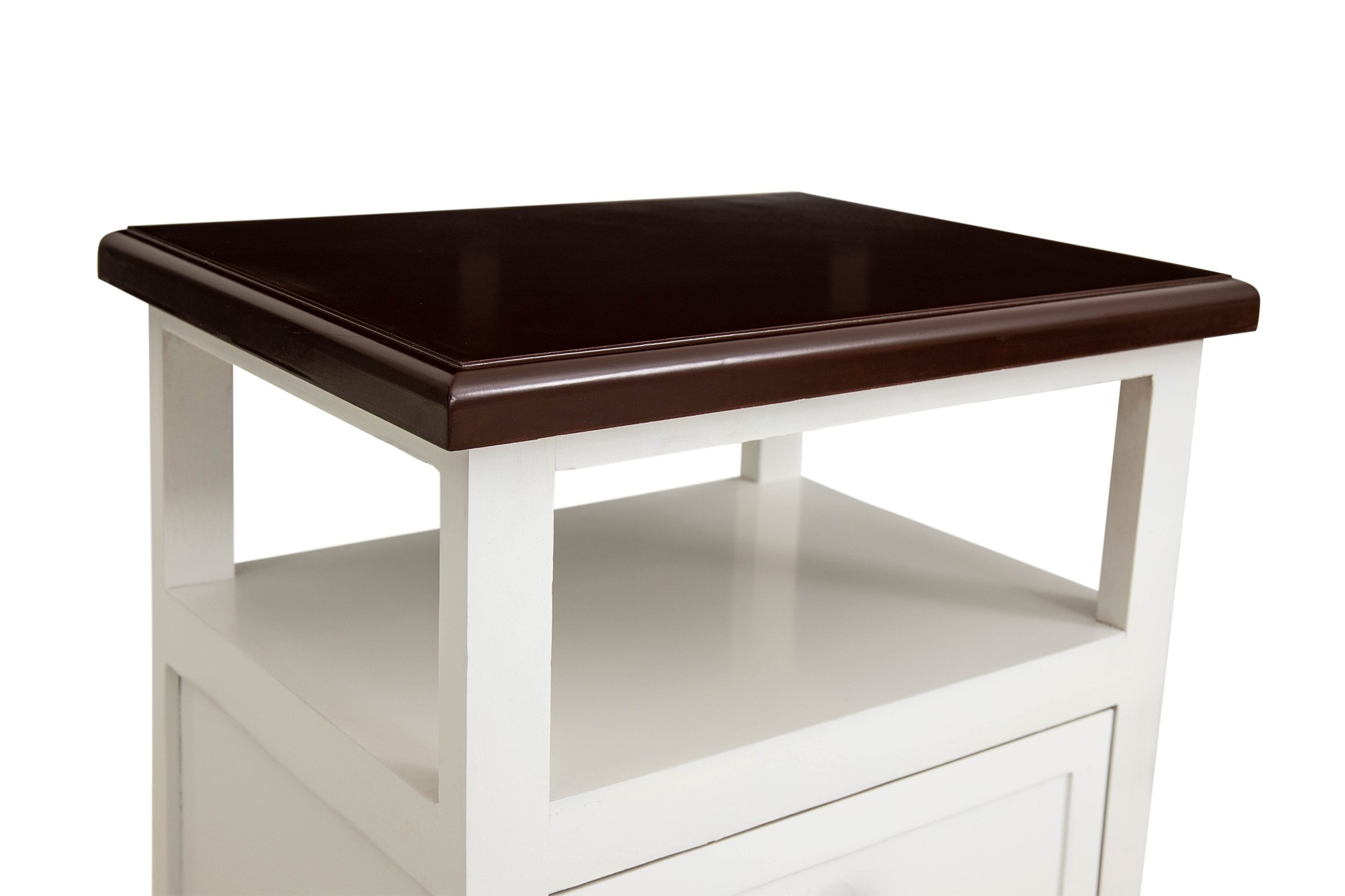 Lovelyn 2 Drawer Wooden Bedside Table Dark Brown Top Furniture Home Decor Fortytwo