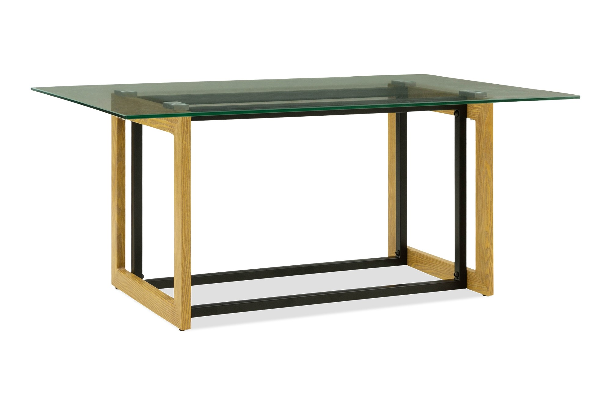 Katrin Glass Coffee Table In Oak Furniture Home Decor Fortytwo