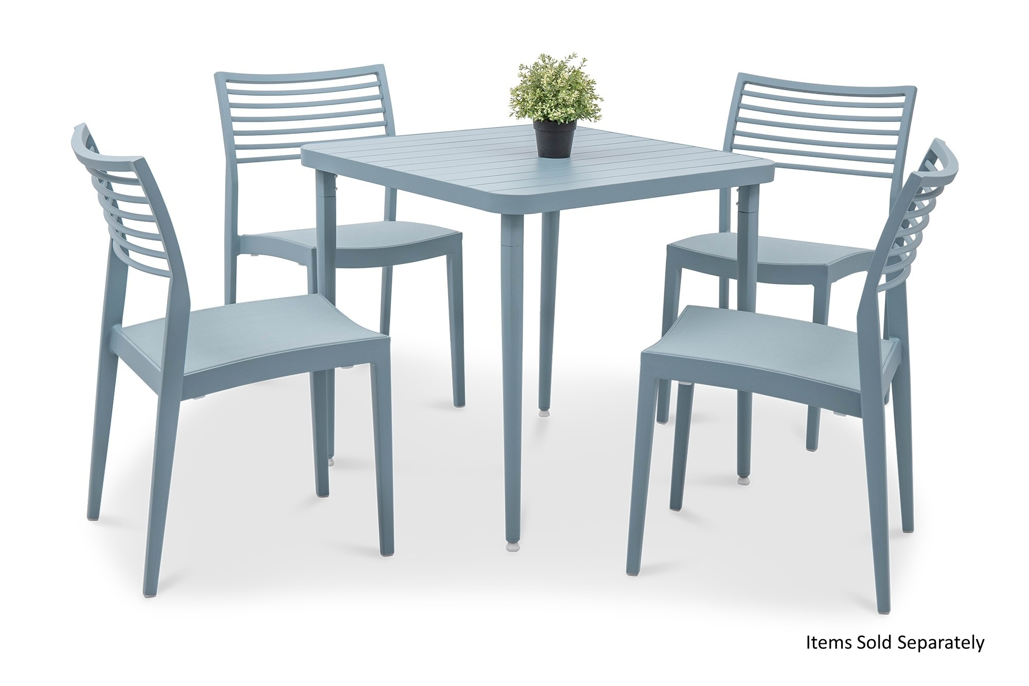 Ma Square Dining Table In Turquoise