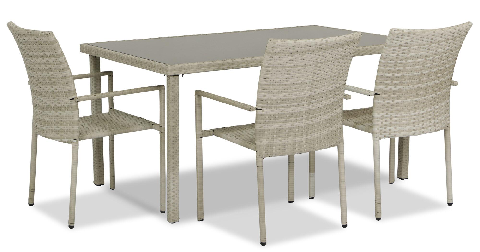 Wakiky Outdoor Dining Set 1 4 Cream Furniture Home Decor