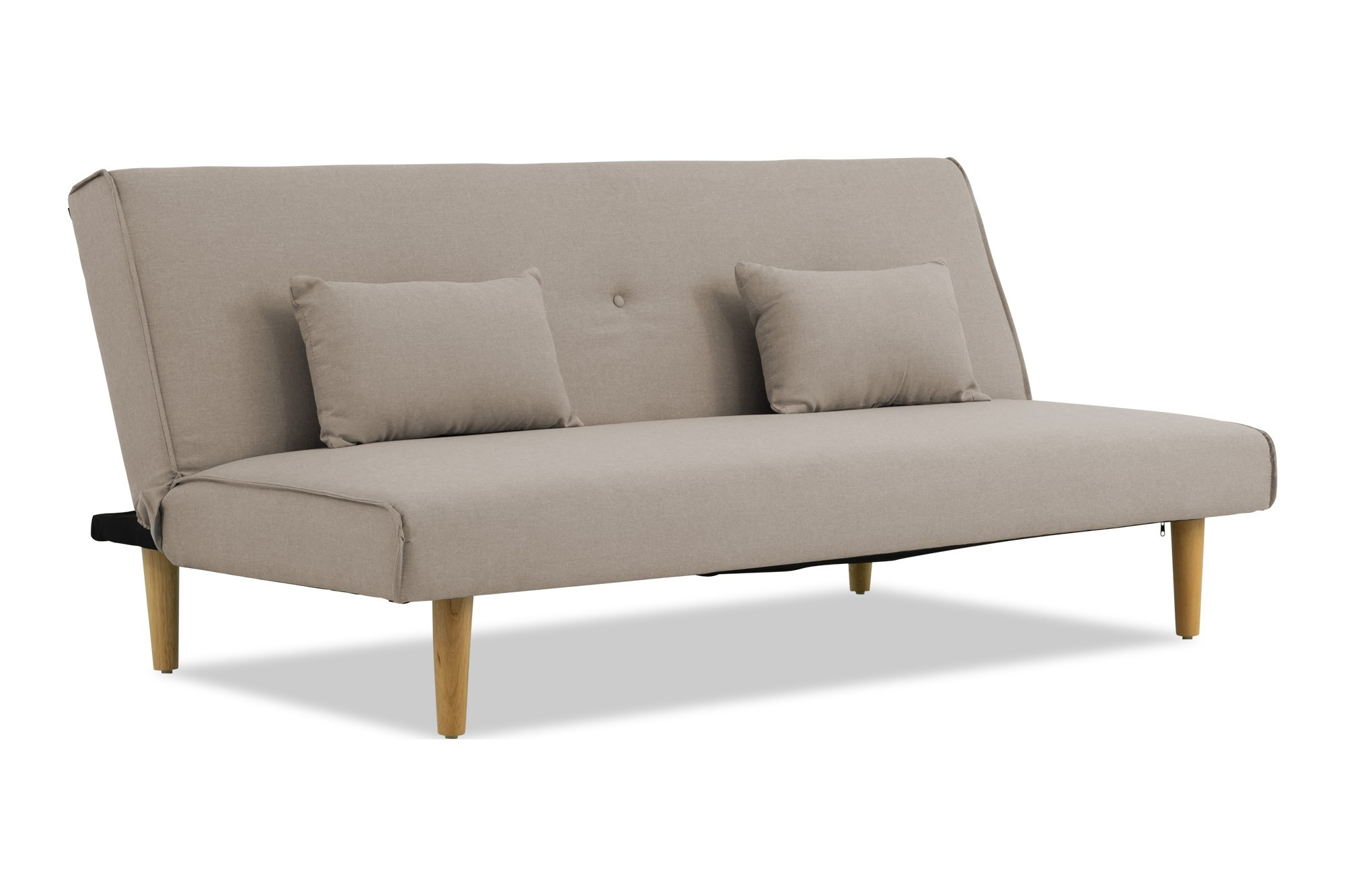 Lacel Sofa Bed With Cushions Taupe Grey