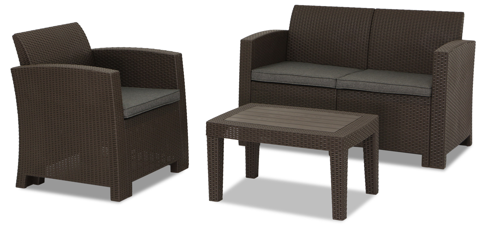 Nina 4 Seater Outdoor Sofa Set Brown Furniture Home